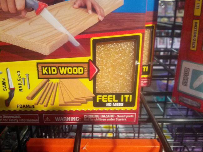 16 This toy that wants you to feel some kid's wood.