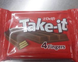 19 This candy that has four fingers for you.