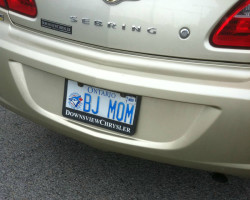 22 This mom who obviously didn't run this plate idea past anyone first.