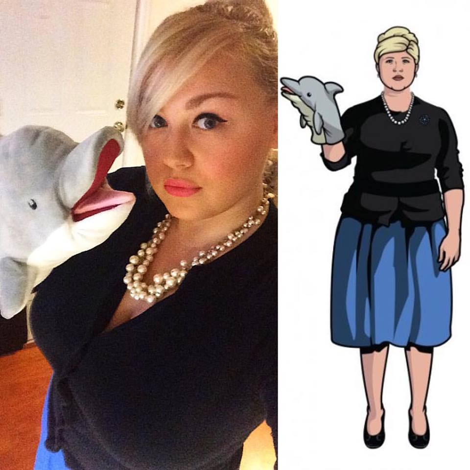 A friend of mine went as Pam from Archer.