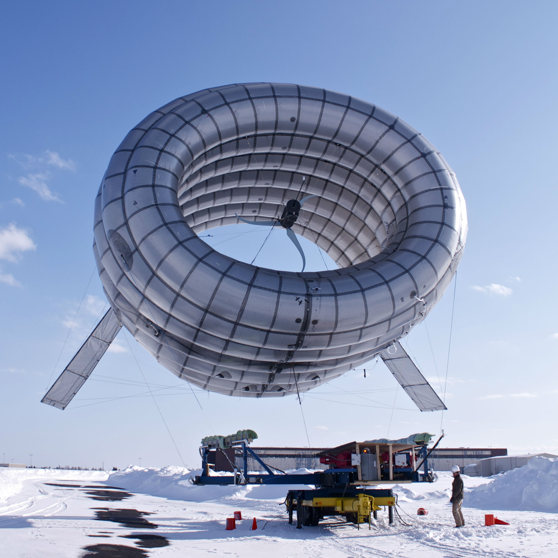 A high altitude wind turbine.