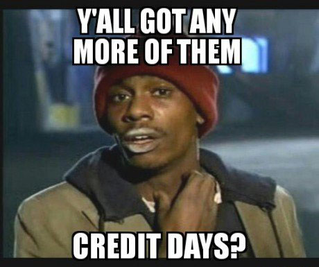 After earning my first credit yesterday