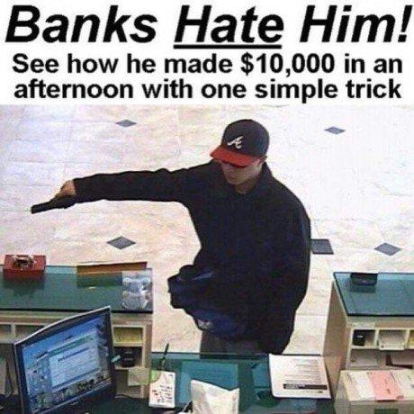 Banks are still running windows 95 it seems
