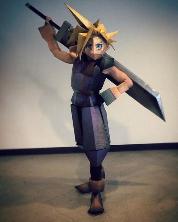 Brendan's Halloween costume as Cloud from FF7... Polygons and all.