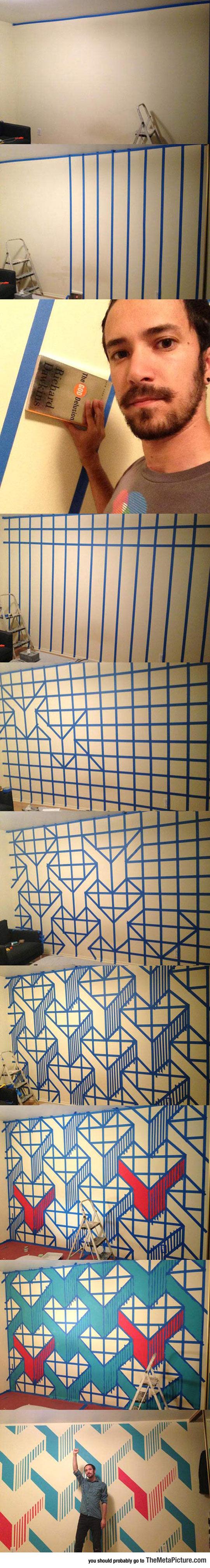 DIY-wall-design-paint