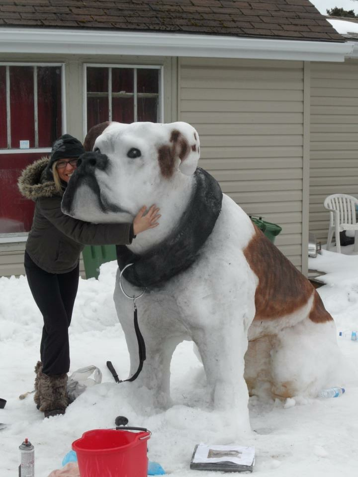 Impressive snow sculpture