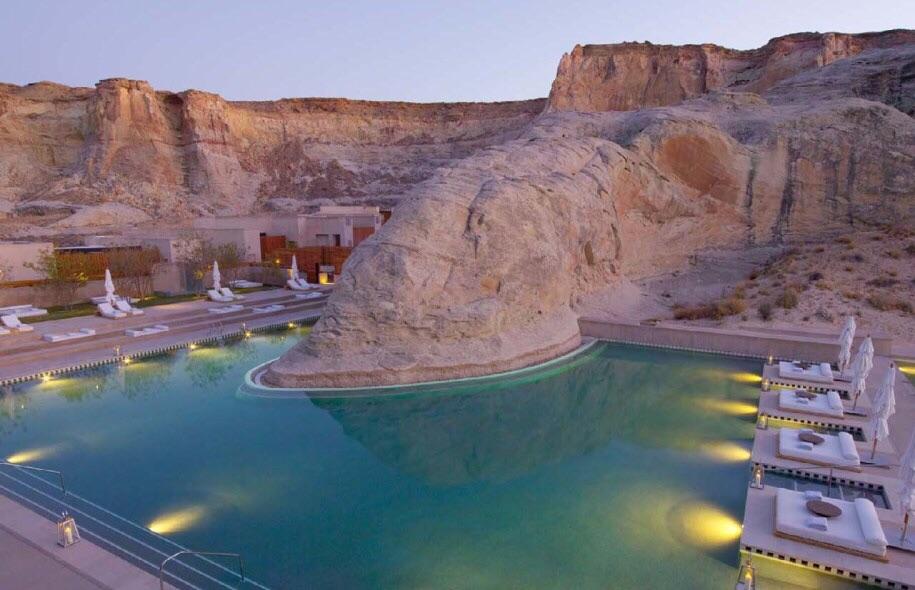 Pool at the Amangiri Resort in Utah.