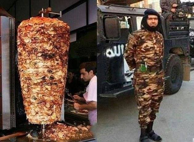 That awkward moment an ISIS commander looks like a kebab