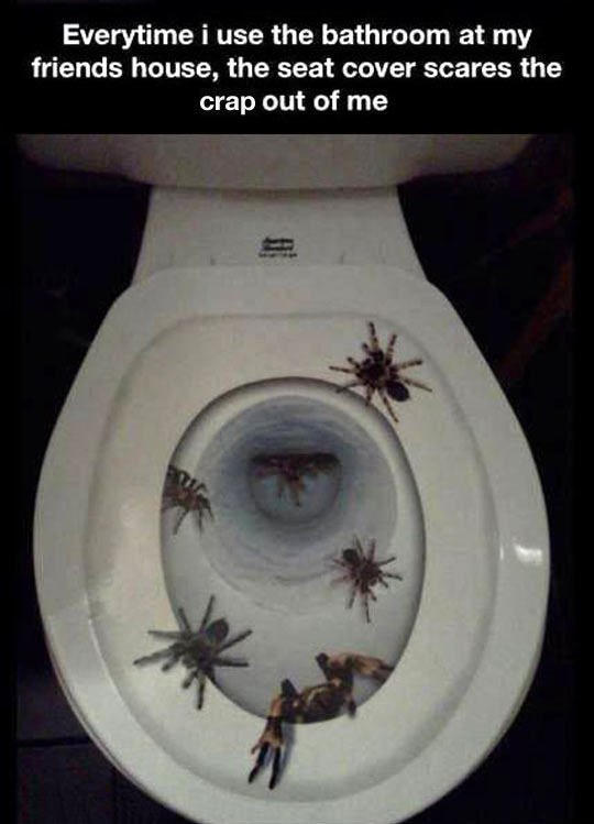 The Scariest Toilet Seat Cover Ever