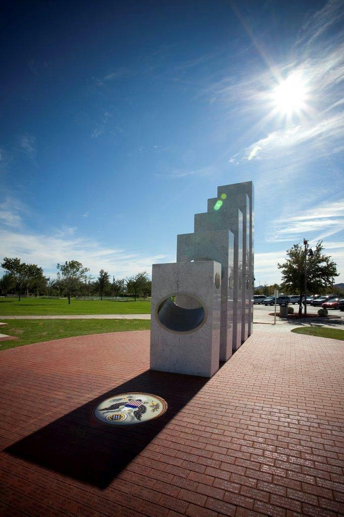 This Veterans Day memorial can only be seen properly today.