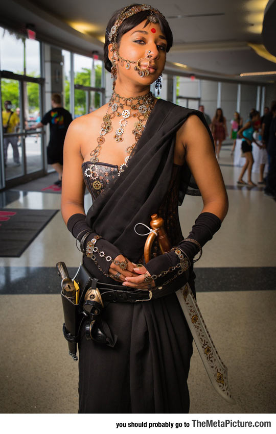 art-girl-India-Bollywood-Steampunk-clothes