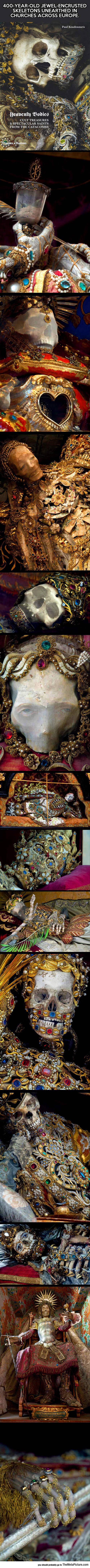 Skeletons In Churches Across Europe