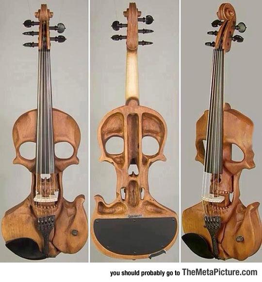 classic-skull-violin-instrument