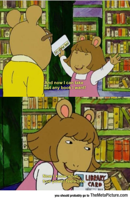 cool-Arthur-library-card-true-power