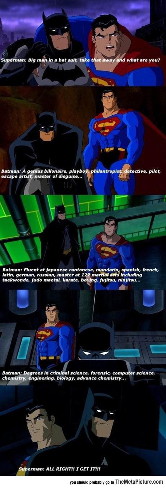 The Reason I Like Batman More Than Superman