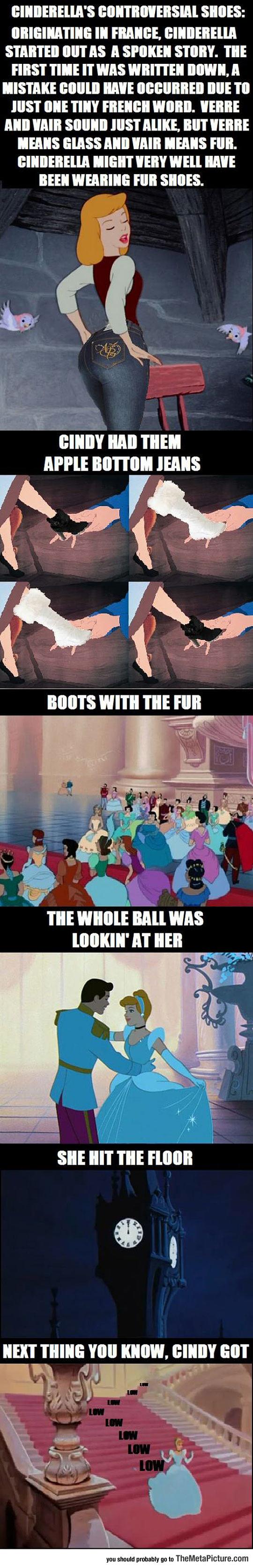 cool-Cinderella-fur-shoes