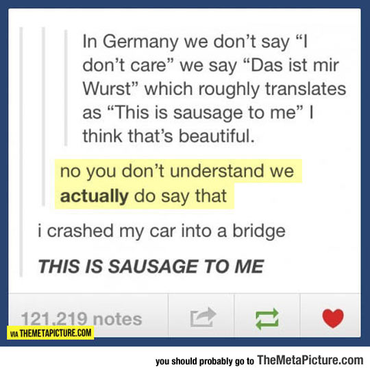 The Way We Say It In Germany