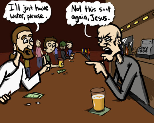 Jesus Walks Into A Bar...
