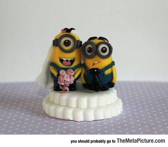 Minion Wedding Cake Topper