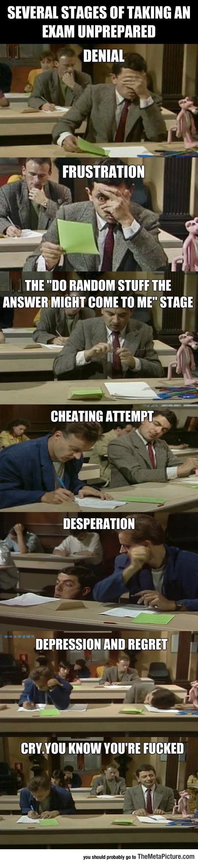 When I Take An Exam Unprepared