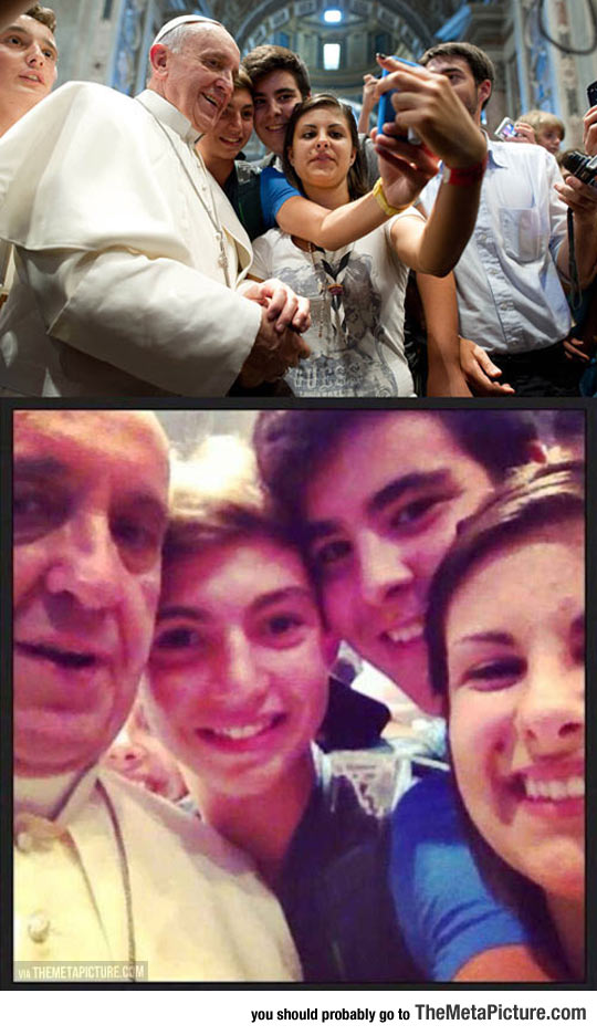 Ever Met A Pope So Chill, He Takes Time To Be In Your Selfie?