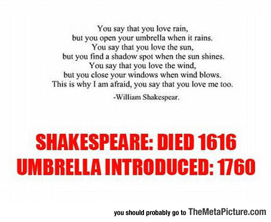 William Shakespeare, The Visionary