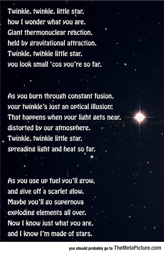 When You Apply Science To Twinkle Twinkle Little Star