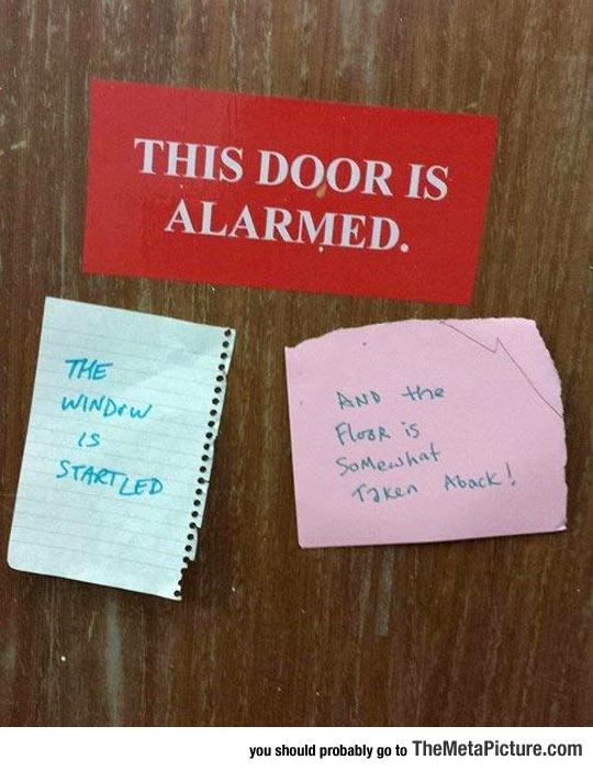 The Door Is Alarmed
