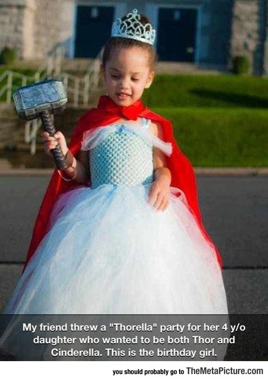 cool-birthday-Thor-Cinderella-costume