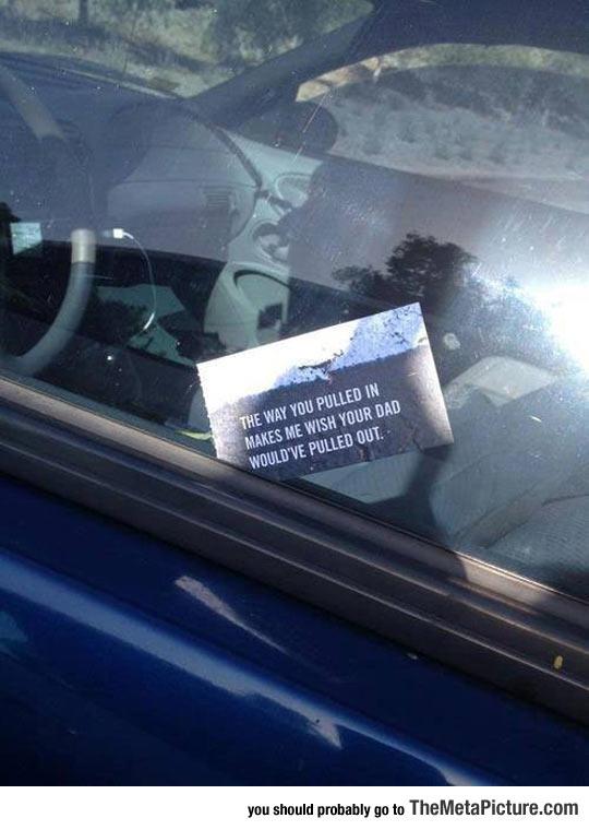 Bad Parking Notice