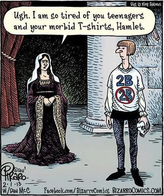cool-comic-Hamlet-shirt