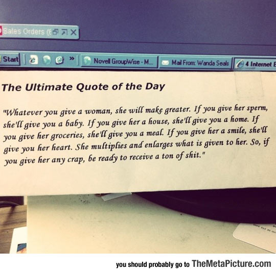 The Quote Of The Day