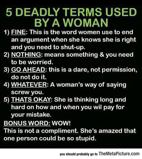 Deadly Words Used By A Woman