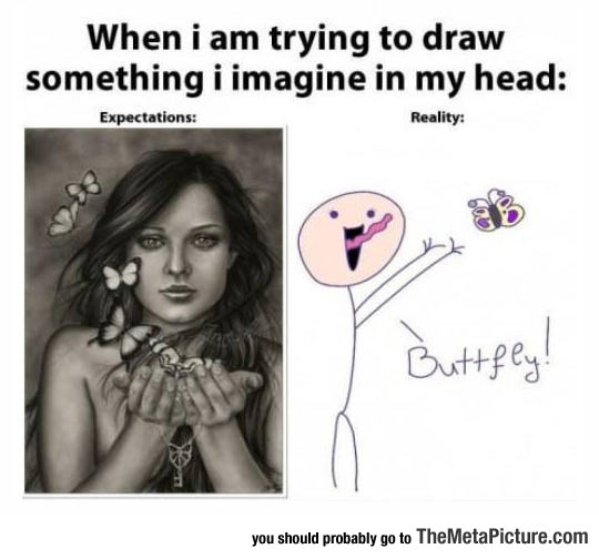 Drawing Expectations Vs. Reality