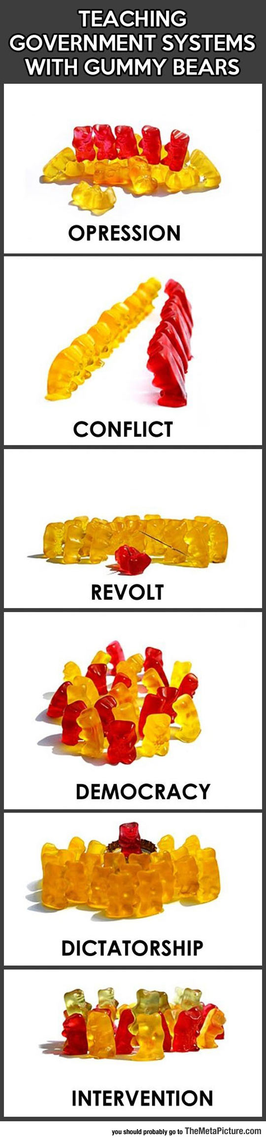 Understanding Government Systems With Gummy Bears