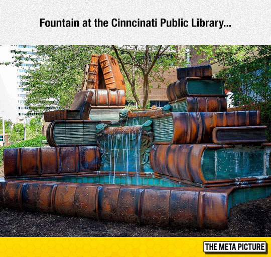 Cinncinati Public Library Fountain