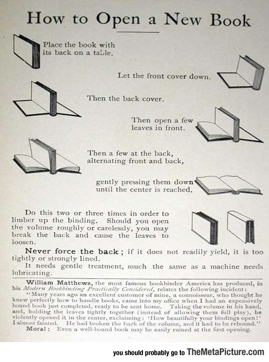 How To Properly Open A New Book