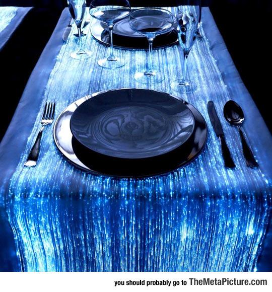 Optical Fiber Tablecloth