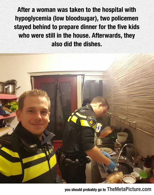 Two Policemen Doing The Right Thing