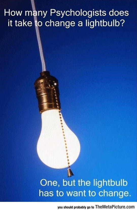 When Psychologists Change A Light Bulb