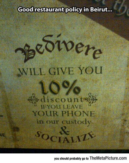 Perfect Restaurant Policy