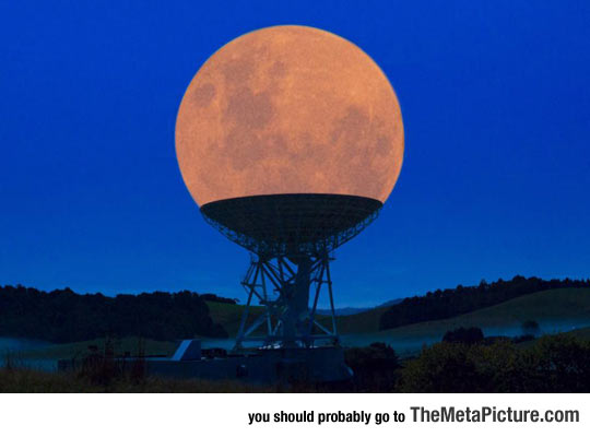 Supermoon In Radio Telescope