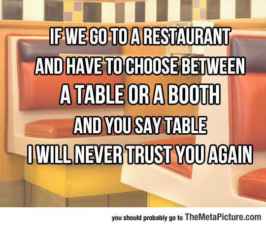 Table Or Booth - Booth or table