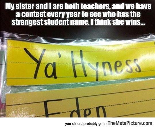 The Strangest Student Name