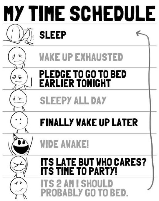 My Daily Time Schedule