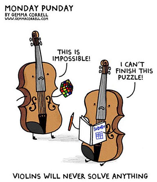 Violins Trying To Solve Things