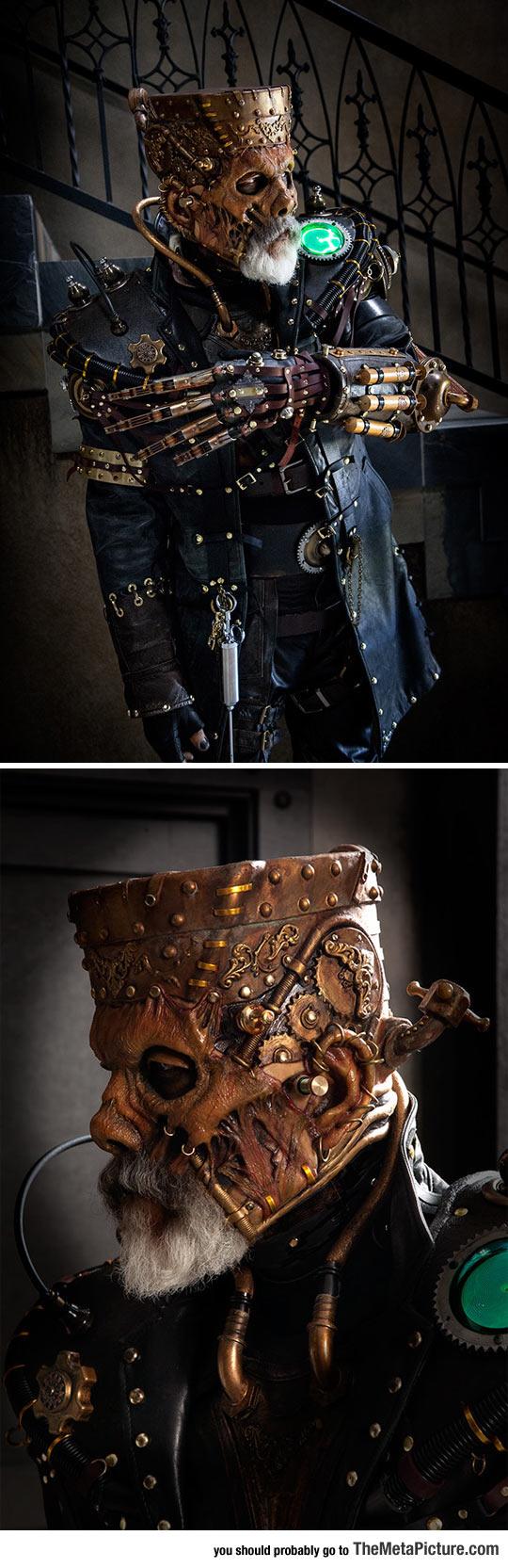 cosplay-steampunk-Frankenstein-makeup-costume