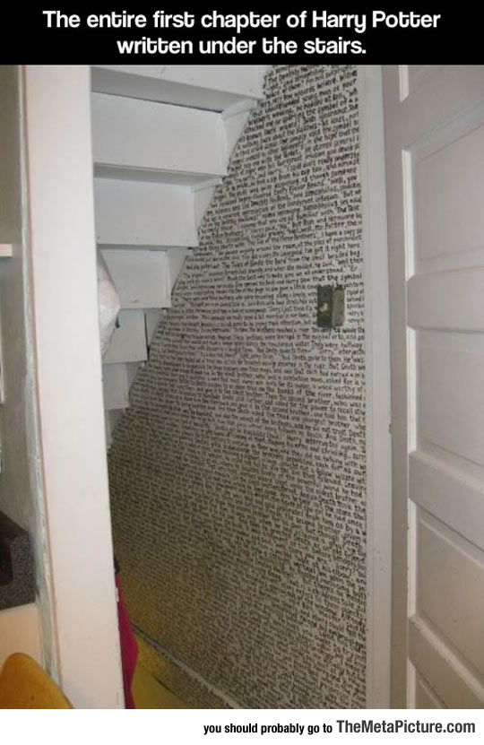 funny-Harry-Potter-stairs-chapter-wall