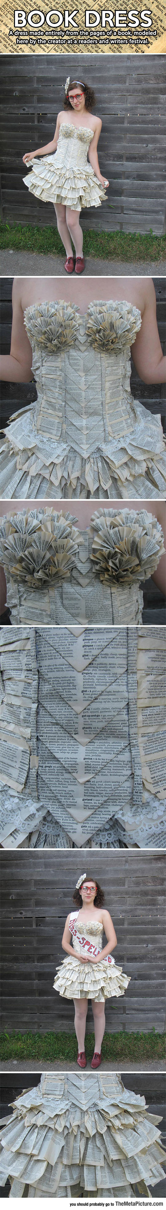 Made From Pages Of A Book