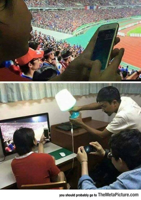 funny-guy-stadium-TV-fake-photo